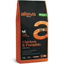 Alleva NATURAL dog chicken&pumpkin puppy maxi 12 kg