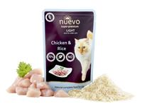 NUEVO cat Light Chicken with Rice 85 g kapsičky