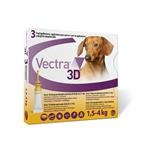 Vectra 3D dog XS 1,5 - 4 kg 3 pipety