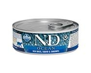 Farmina N&D cat OCEAN Sea Bass & Squid Shrimps konzerva 80 g
