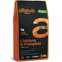 Alleva NATURAL dog chicken&pumpkin adult mini 2 kg