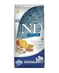 Farmina N&D dog OCEAN adult Medium & Maxi Codfish, spelt, oats and orange 12 kg