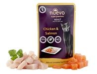 NUEVO cat Adult Chicken & Salmon 85 g kapsičky