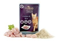 NUEVO cat Sterilized Chicken with Rice 85 g kapsičky